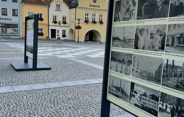 Panelová výstava HISTORICKÝCH FOTOGRAFIÍ MĚSTA na Slezském náměstí